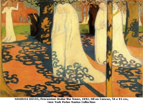 Maurice Denis - procession under the trees in St Germain en Laye (smalll)