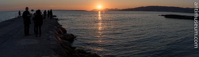 Sunset in Juan Les Pins